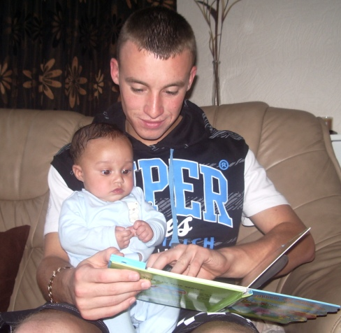 Rio and dad reading1