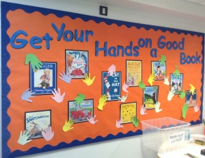 Get your hands on a book display