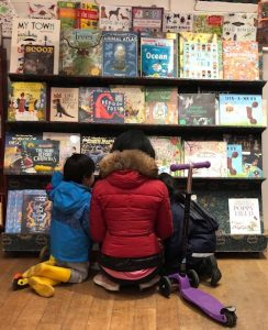 family in Daunt Books